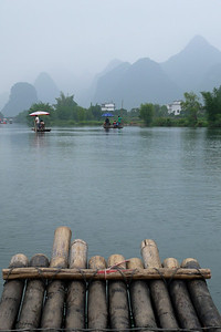 The Li River bamboo raft