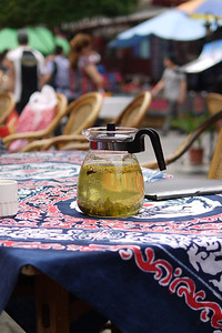 A pot of Osmanthus tea
