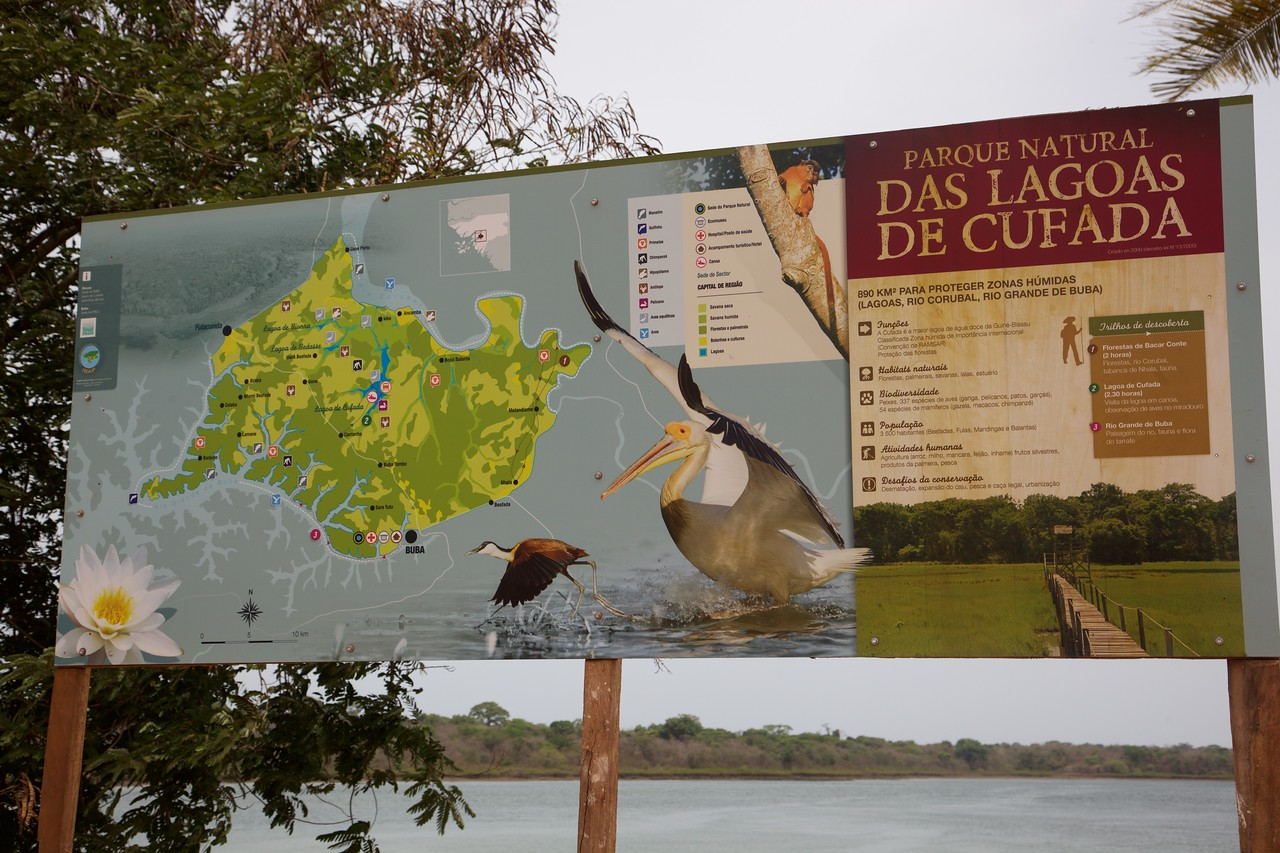 Third and final national park of the trip: Lagoas de Cufada