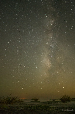 Milky Way and Channel Lights