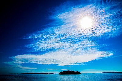 A big sky over the Gulf Islands, Canada