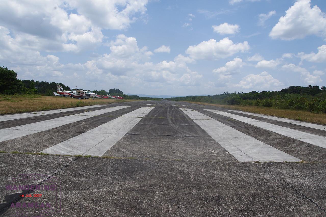 The runway at KAI.