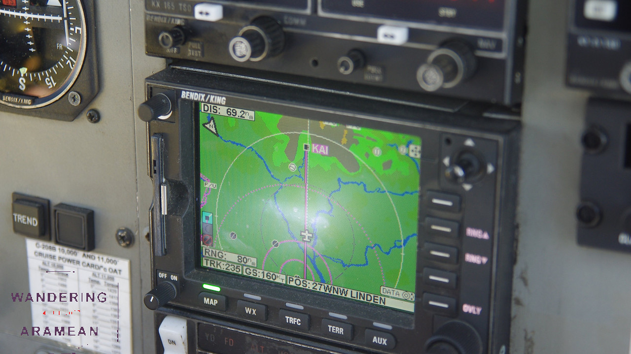 Check out the GPS for our flight to Kaiteur Falls
