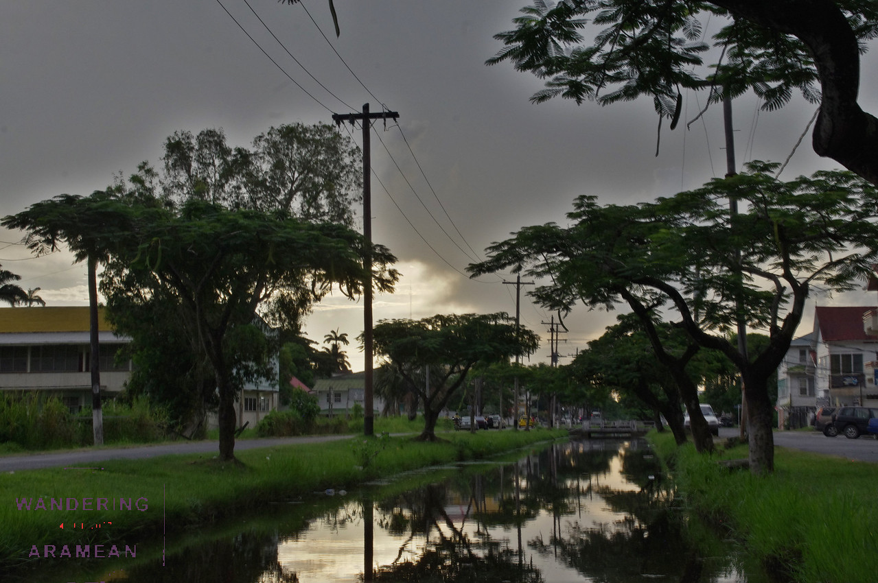 "A ""canal"" in Georgetown, Guyana"