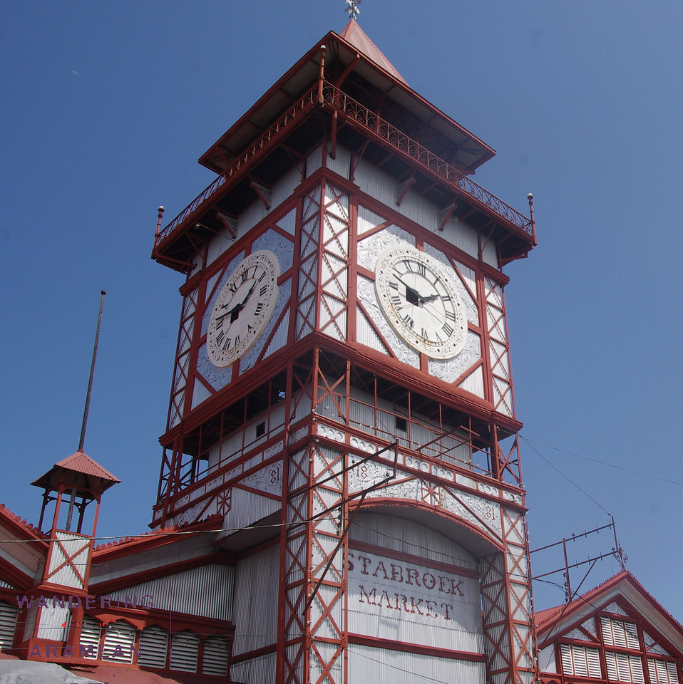 The infamous clock tower of Stabroek Market