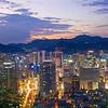 Sunset over Seoul, Mt. Namsan