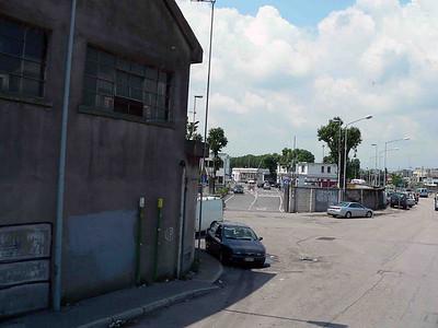 The entrance to Fincantieri Shipyard in Venice