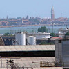 View of Venice from the shipyard