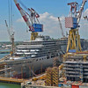 This is the Costa Luminosa which was being built next to us, and another ship by it already being built too.
