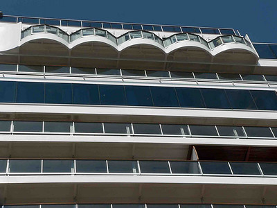 We called these the SUICIDE BALCONIES because we thought once you saw how little balcony you had for how much you paid you'd commit suicide! These are new cabins located next to the Crow's Nest on Deck 13