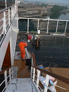 Another view of Deck 11 before the cabanas were installed