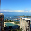 view from our room at the Hilton Hawiian Village