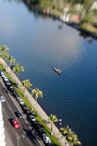 Outrigger on the Ala Wai Canal ...Shot with Lens Baby 2.0