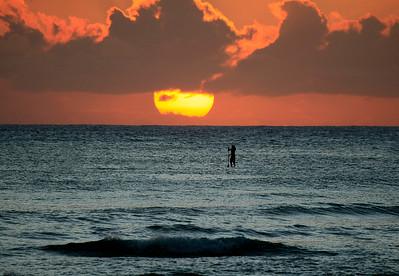 Standup paddler on Waikiki