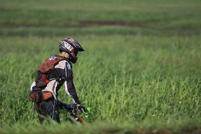 Dirt Bike riding through the pineapple fields