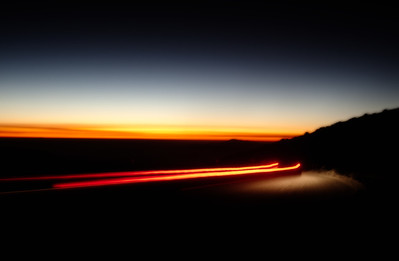 On the road down from Mauna Kea