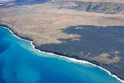 Lava trail from Kilauea Volcano Big Island HI
