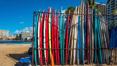 Surfboard rack Waikiki