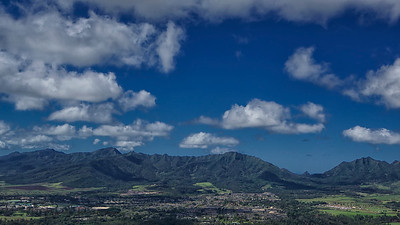 Waianae Range behind Schofield Barracks