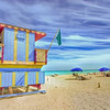 Simple pleasures<br /> sand, sea and sun<br /> 15th Street Lifeguard Station<br /> South Beach, Florida