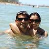 NV posing in the Waikiki water