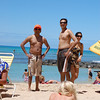 Lifeguards waitin' for a beach rescue