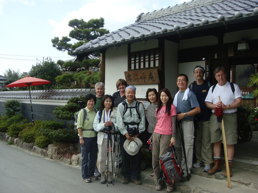 Tea house along the Yamanobe no michi path