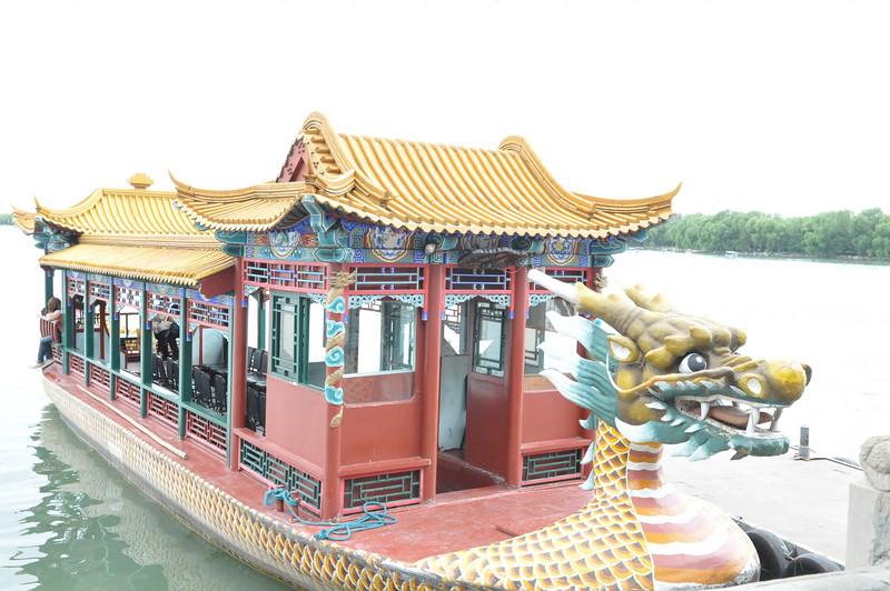 龍舟遊船,頤和園,北京