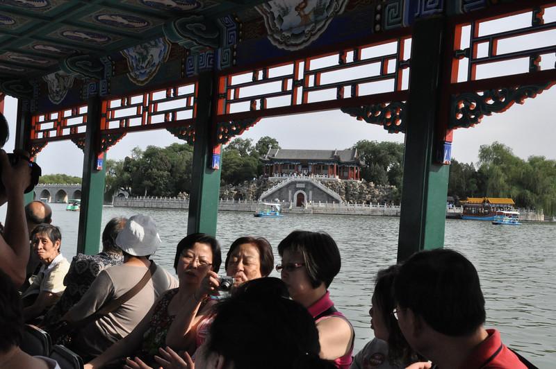 在遊船上,頤和園,北京