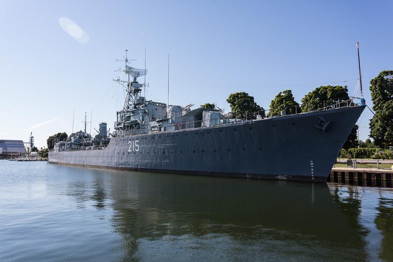 Destroyer HMCS Haida National Historic Site.