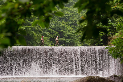 Fly fishing Japan for Yamame Trout - Japanese Fly Fishing - Photo by Jim Klug. Klug Photos. Fly fishing photos, fly fish photos, stock fly fishing photos, fly fishing travel photos.