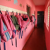 Girls' dorm area. Backpacks were purchased in Durango Walmart last year on after-school clearance for $1 each!