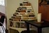 Magazine rack in Hemingway's estate house.
