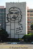 """Che Guevara image on the Ministry of Interior building, with the inscription """"Hasta la Victoria Siempre"""", Until Victory Forever."""