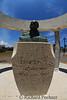 Memorial to Ernest Hemingway erected by the fisherman he befriended located along the waterfront walkway in Cojimar.