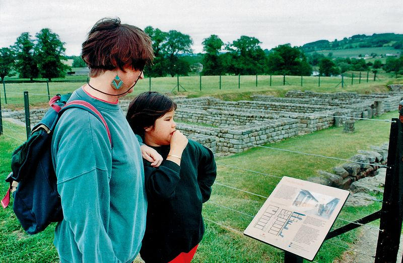 Gill and Lan Ruins of roman forts Hadrian's Wall England - Jun 1996
