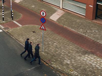 Three Men Walk to Lunch