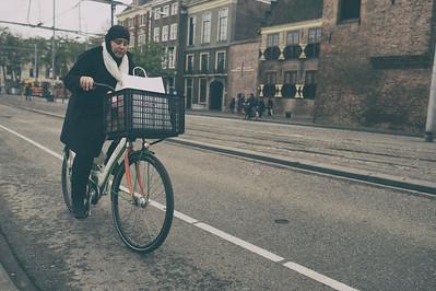 She bikes home
