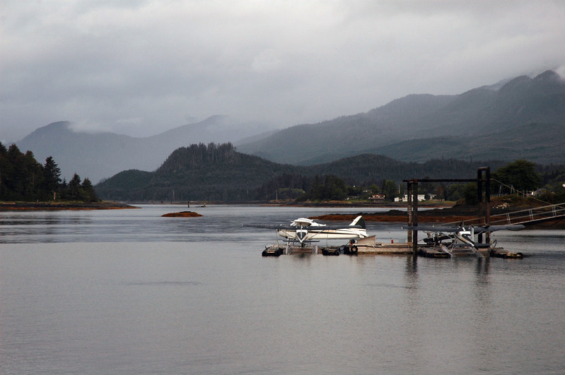 A float plane in Queen Charlotte City - Haida Gwaii (formerly known as the Queen Charlotte Islands) in British Columbia<br /> <br /> <br /> <br /> Travel Stock Photography for the Nature Stock Photography Library by Professional Photographer Christina Craft