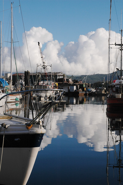 Boats in the harbour of Queen Charlotte City on Haida Gwaii in B.C. (British Columbia)<br /> <br /> <br /> <br /> Travel Stock Photography for the Nature Stock Photography Library by Professional Photographer Christina Craft