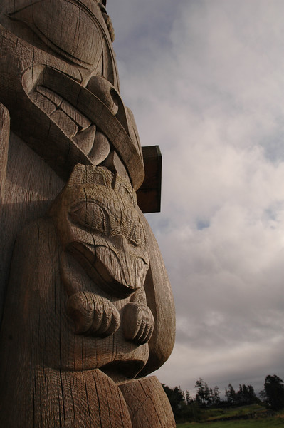 Bill Reid Totem in Skidegate, Haida Gwaii - Nature Stock Image by Professional Nature Photographer Christina Craft
