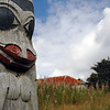 "Haida Gwaii (formerly known as the Queen Charlotte Islands) in British Columbia<br /> <br /> These photographs show Haida and Tlingit totem art and carvings from Victoria, the Queen Charlotte Islands and Haines, Alasaka. The west coast is rich in Haida and Tlingit art; however, most of the totems you'll find in villages and towns were created within the last 50 years or so, even though aboriginal communities have lived and carved on the west coast for time immemorable. European settlers believed totems were heathen and destroyed most of them in British Columbia -- as a result, very few original totems remain. There are a few villages along the Queen Charlotte Islands where you will find the remains of some old Haida villages. The villages were abandoned in the late 1800s reduced the Haida population from about 10,000 to a mere 300 (one European man landed on Charlotte soil *knowingly* carrying small pox). After the outbreak, the Haida moved to the northern parts of the islands in towns like Massett and Skidegate. Most poles are raised at a ceremony called a potlatch, where the family presented gifts to everyone attending. A family would have to accumulate great wealth in order to hold a potlatch - and wealth was shown by ""giving away"" rather than ""accumulating"" possessions. Memorial totems (many of which housed the dead) would be left to rot and naturally succum to the earth -- all part of the reincarnation beliefs of the Haida people. Unfortunately, many totems (in effect tombs) were exported/imported to museums around the world. The Haida are now asking for repatriation and a return of their ancestor's bones. Haida representatives recently went to Chicago and reclaimed bones from the musuem there. The Canadian government and Haida nation are now in the process of buildling a $20 million museum to house Haida artifacts on the Queen Charlotte Islands. <br /> <br /> <br /> <br /> <br /> Travel Stock Photography for the Nature Stock Photography Library by Professional Photographer Christina Craft"