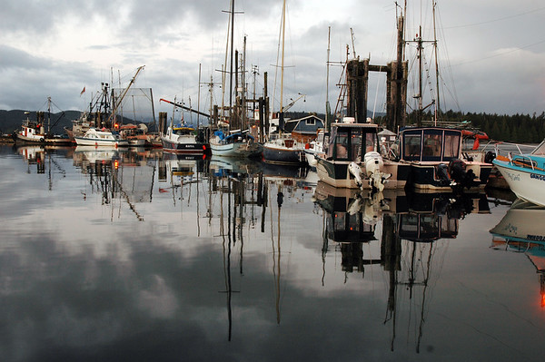 Boats in a marina - Haida Gwaii (formerly known as the Queen Charlotte Islands) in British Columbia<br /> <br /> <br /> <br /> Travel Stock Photography for the Nature Stock Photography Library by Professional Photographer Christina Craft