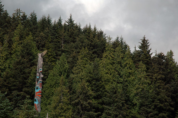 Totem Pole in Skidegate Haida Gwaii Islands  - Nature Stock Image by Professional Nature Photographer Christina Craft