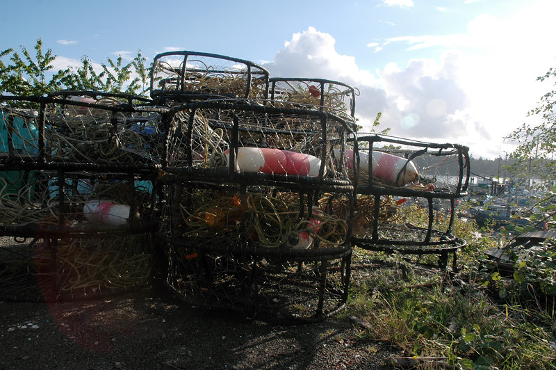 Fishing traps for crab and lobster <br /> Professional Nature Photography by Christina Craft of the Nature Stock Photography Library