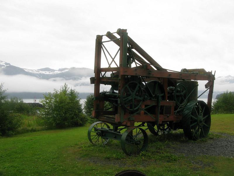 Steam mining drill, ca. 1900