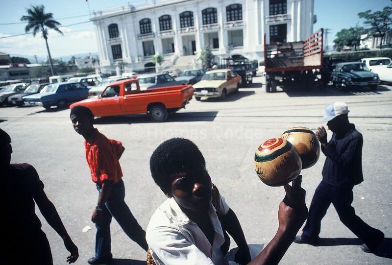 Street Vendor, Old City Hall, Port-au-Prince.