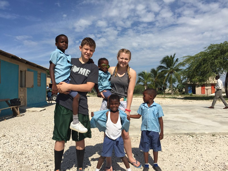 Day#8<br /> Sam & Lynlea saying goodbye at the orphanage