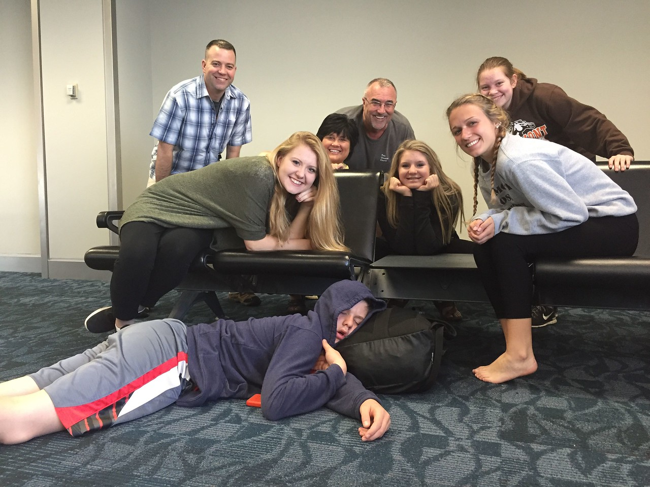 "Our PCC team. <br /> Sam, aka, ""Sleepy""<br /> Lynlea, Lexi, Lauren<br /> Me, Rhonda, Jim, Hailey"