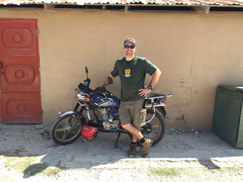 One of the teachers rides a motorcycle to work.<br /> Sadly, I did not get to test drive it....